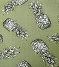 Tropic Time Micro Pique Knit Fabric 58\u0027\u0027-Pineapple Print on Sage