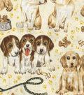 Novelty Cotton Fabric 43\u0027\u0027-Mixed Dog Breeds