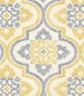 P/K Lifestyles Upholstery 8x8 Fabric Swatch-Lattice Imprint/Sunshower