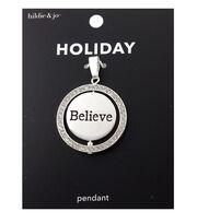 hildie & jo Holiday Pendant-Silver Believe, , hi-res
