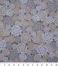 Harvest Cotton Fabric 44\u0022-Cream Packed Mums