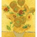 DMC 14.5\u0027\u0027x11.5\u0027\u0027 Counted Cross Stitch Kit-Van Gogh Sunflowers