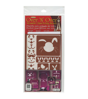 Armour Products Over 'N' Over Reusable Glass Etching Stencil-Easter