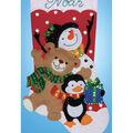 Applique Felt Stocking Kit-Holiday Friends