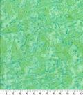 Cotton Fabric -Light Green Tonal Batik