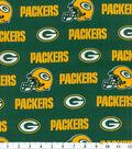 Green Bay Packers Cotton Fabric 58\u0027\u0027-Green