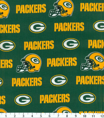Green Bay Packers Cotton Fabric -Green