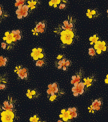Premium Cotton Fabric 44''-Mini Poppies