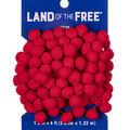 Land of the Free Trim 5/8\u0022 Pom 12ft-Red