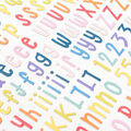 American Crafts Thicker Stickers-Rainbow Alphabet