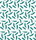 Quilter\u0027s Showcase Cotton Fabric 44\u0022-Deep Lake Feathers On White