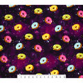 Super Snuggle Flannel Fabric-Space Donuts