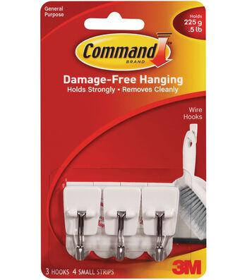 Command Utensil Hook W/ Adhesive-White