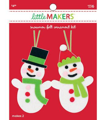 Little Makers Christmas Ornaments-Snowmen