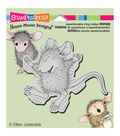 Stampendous House Mouse Cling Rubber Stamp Tiny Jumper