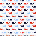 Nursery Cotton Fabric -Nautical Whales