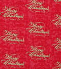 Christmas Cotton Fabric 43\u0022-Merry Christmas Pearl