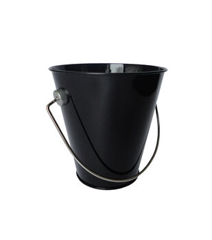 Hampton Art Medium Tin Pail-Black