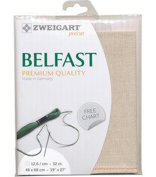 Zweigart 32-count Precut Belfast Premium Quality Linen Fabric-Platinum