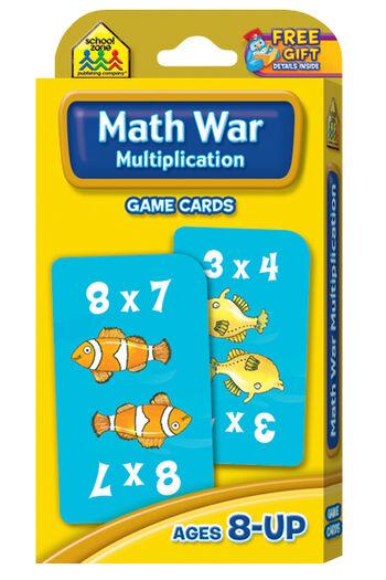 Game Cards-Multiplication Math War