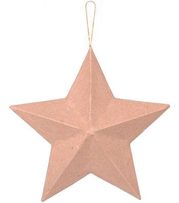 "Paper Mache Star Ornament 8"""