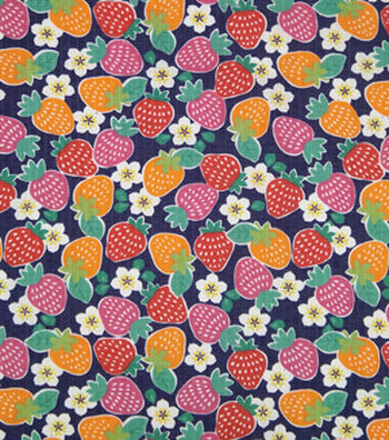 Doodles Juvenile Apparel Fabric -Strawberry Delight Pucker