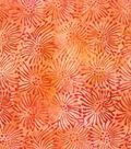 Legacy Studio Batik Cotton Fabric -Starburst Watercolor Orange