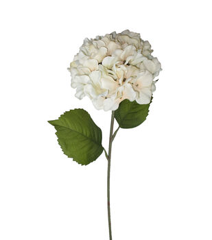 Blooming Autumn 27'' Hydrangea Stem-White