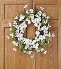 Spring Floral 22\u0027\u0027 Dogwood Wreath White