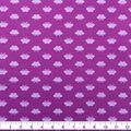 Doodles Cotton Spandex Fabric-Purple Glitter Butterflies