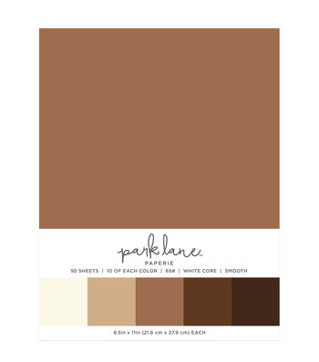Park Lane 50 pk 8.5''x11'' Value Papers-Browns