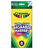 Crayola Fine Line Washable Markers-8PK/Classic Colors, , hi-res
