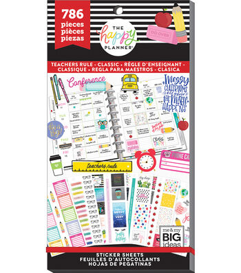 The Happy Planner Value Pack Stickers-Classic Teacher