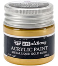 Prima Marketing Art Alchemy 1.7 oz. Acrylic Paint-Metallique Gold Rush
