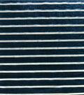 Velvet Fabric 43\u0022-Metallic Stripe Botanical Garden
