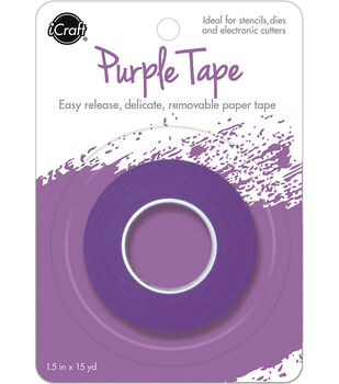 iCraft Removable Tape Roll 1.5''x15 yds-Purple