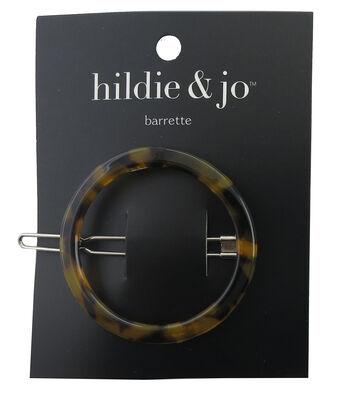 hildie & jo Round Barrette-Tortoise Shell