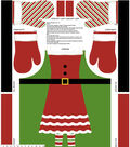 Christmas Cotton Fabric 43\u0022-Mrs. Claus Apron