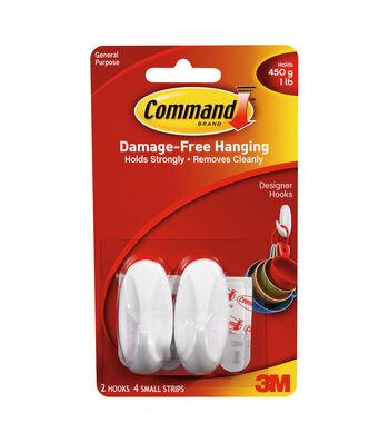 Command Strips & Small Designer Hooks