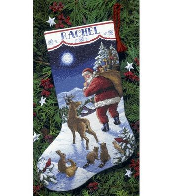 Dimensions Counted Cross Stitch Kit Santa's Arrival Stocking