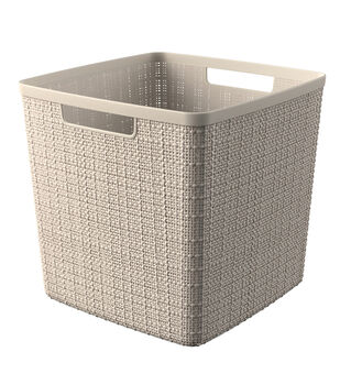 Jute Cube Basket-Off White