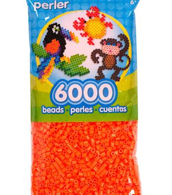 Perler 6000 Count Bead Bag-Orange