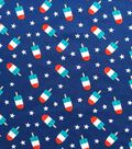 Doodles Interlock Knit Fabric -Patriotic Popsicles