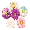 Prima Marketing Moon Child 6 pk 2\u0027\u0027 Paper Flowers-Galactic Energy