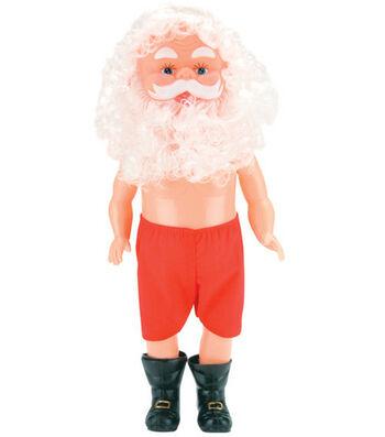 """Darice 13"""" Plastic Santa Doll-Santa Claus"""