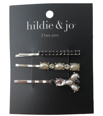 hildie & jo 3 Pack Silver Hair Pins