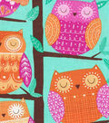 Novelty Cotton Fabric- Perched Owls
