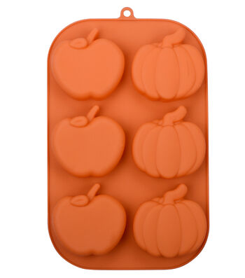 Silicone Treat Mold 7''x11''-Pumpkins & Apples