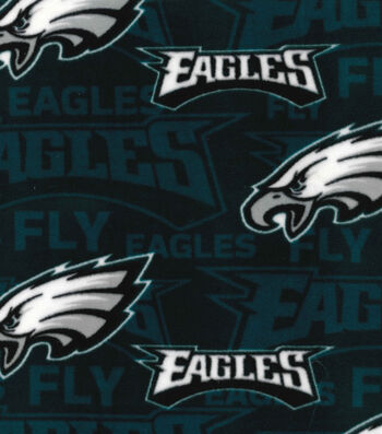 Philadelphia Eagles Fleece Fabric -Fly Eagles Fly