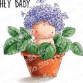 Stamping Bella Cling Stamps-Hydrangea Baby